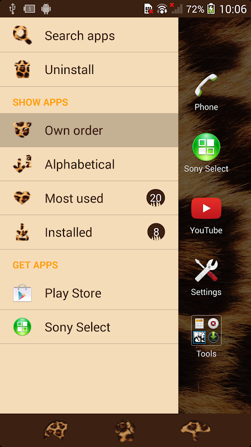 XPERIA™ African Leopard Theme Screenshot 2