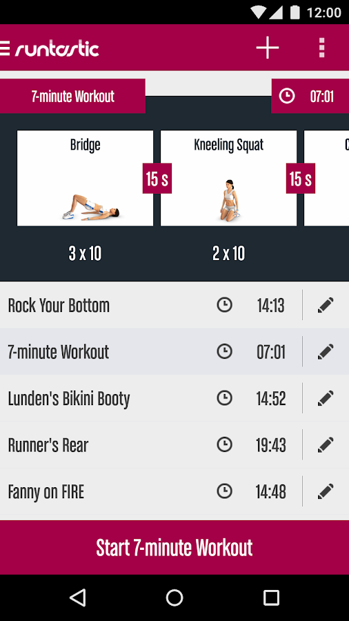 Runtastic Butt Trainer Workout Screenshot 4