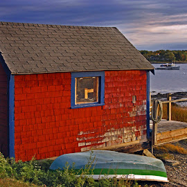 The Boat House 01 by Jeff Stallard - Buildings & Architecture Other Exteriors ( dover, lobster, house, boat, newick's, new hampshire )