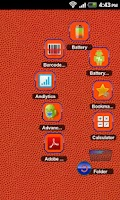 Screenshot of TSF Shell Theme Orange Blue HD