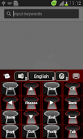 Screenshot of Keyhole Keyboard