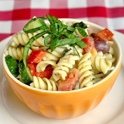 Garden Pasta Salad with Lemon Dijon Dressing