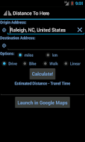 Screenshot of Distance to Here Free