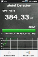 Screenshot of Metal Detector Sensor