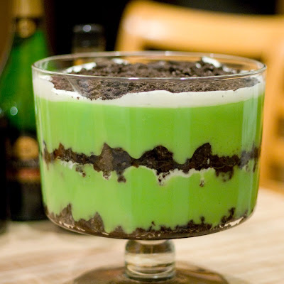 Lazy Grasshopper Dessert Pudding