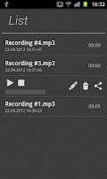 Screenshot of Agila Voice Recorder