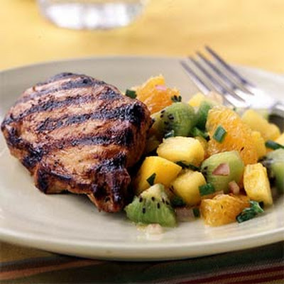 Grilled Chicken with Fruit Salsa