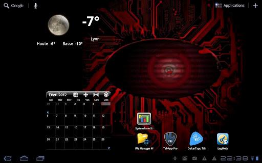 Black Droid Eye Live Wallpaper
