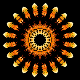 Wheel of flames 20 by Dominic Jacob - Illustration Abstract & Patterns ( abstract, flames, wheel, abstract art, digital art, wheels, digital, flame )