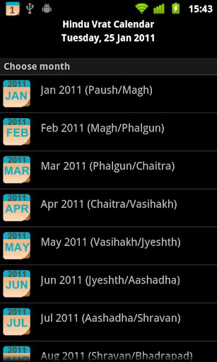 Hindu Vrat Calendar