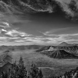 by Syarif Rohimi - Landscapes Mountains & Hills ( black and white, b&w, landscape )