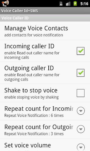 Voice Caller ID + SMS Pro