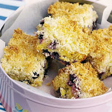 Blueberry Lemon Cake With Coconut Crumble Topping