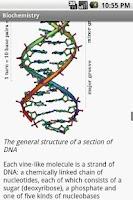 Screenshot of Biochemistry Study Guide