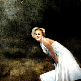 A Candle in the Wind by Bjørn Borge-Lunde - Digital Art People ( marilyn monroe, woman, celeberty, film star, movie star, portrait )
