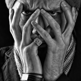SHAME  by Angelito Cortez - People Portraits of Men ( ring, face, hands, man, portrait,  )
