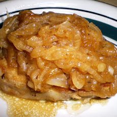 Pork Chops Smothered in Caramelized Onions