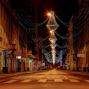 Emptiness by Bojan Bilas - City,  Street & Park  Night ( street, neighborhood, long exposure, night, city, , city at night, street at night, park at night, nightlife, night life, nighttime in the city )