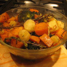 Honey-Rosemary Roasted Winter Vegetables