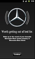 Screenshot of Mercedes-Benz World Alarm