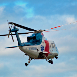 Air Ambulance by Keith Sutherland - Transportation Helicopters ( helicopter, flying, flight, air ambulance, emergency )