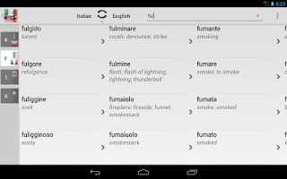 Screenshot of Dictionary Italian English