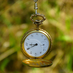 Old Clock by Zeljko Secujski - Artistic Objects Antiques ( pocket watch, time, vreme, sat, watch, old clock, antique, golden, dzepni sat )