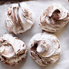 Chocolate and Cinnamon Swirl Meringues Recipe