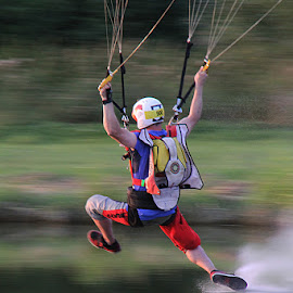 skydive by Paula Soares - Sports & Fitness Other Sports ( mirror, water, skydiving, skydive, swoop, swooping,  )
