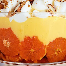 Caramelised Clementine And Almond Trifle