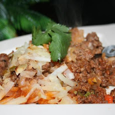 Ground Beef and Shredded Potato Casserole
