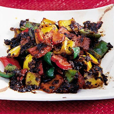 Peppers With Black Beans