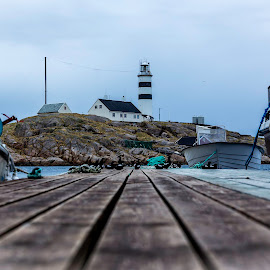 Halten pier by Martin Jensen - Buildings & Architecture Other Exteriors ( bird, boats, lighthouse, boat, birds,  )