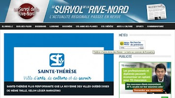 Screenshot of Le Survol de la Rive-Nord