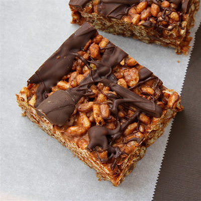 Cocoa Marshmallow Krispie Treats
