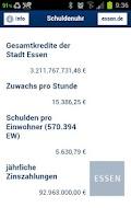 Screenshot of Essener Schuldenuhr