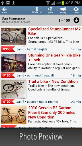 c-mobile-craigslist-client for android screenshot