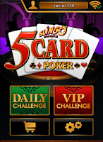Screenshot of Slingo 5 Card Poker