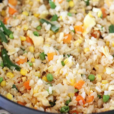 Vegetable Fried Rice with Egg