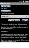 Screenshot of Lottery Scanner
