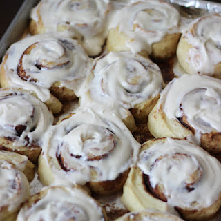 Overnight Buttermilk Cinnamon Rolls with Cream Cheese Frosting