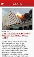 Screenshot of Stadt Graz Feuerwehr