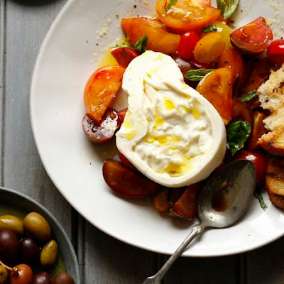 Burrata with Heirloom Tomatoes from 'Di Bruno Bros. House of Cheese'