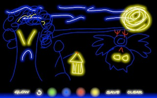 Screenshot of Glow Doodle (Original)