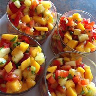 Mango, Peach and Pineapple Salsa
