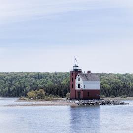 Lighthouse by Randy McRoberts - Transportation Boats (  )