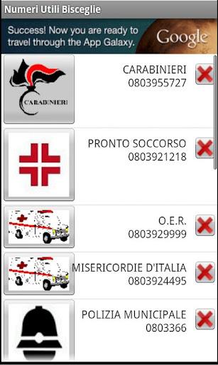 Bisceglie's usefull phone Num.