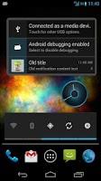 Screenshot of Nexus 4 Clock ICS Clock Widget