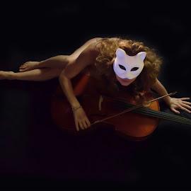 Cellist by Cesare Riccardi - Nudes & Boudoir Artistic Nude ( cellist, nude, woman )