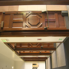 Down the Hall by Linda McCormick - Buildings & Architecture Other Interior ( architectural detail, woodwork, architecture, hallway, museum )